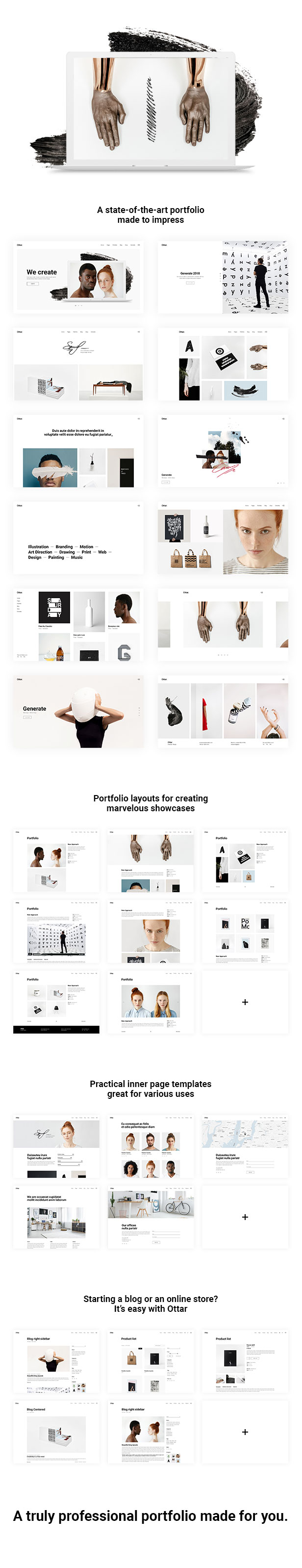 Ottar - Contemporary Portfolio Theme - 1